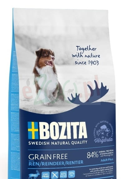 promo BOZITA DOG GRAIN FREE ADULT PLUS
