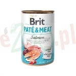 BRIT CARE PIES PATE & MEAT SALMON 800 G ( psy łosoś ryby )