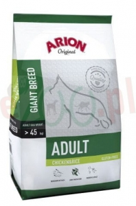 ARION ORIGINAL GIANT CHICKEN & RICE 12 KG ( pies rasy olbrzymie kurczak )