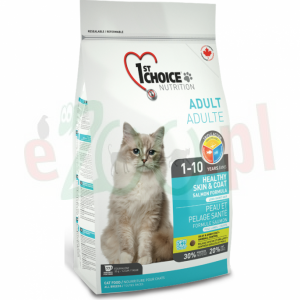 1ST Choice Indoor Sensitive Skin & Coat Salmon Formula 350 G 2,72 KG 5,44 KG 10 KG ( koty łosoś sierść )