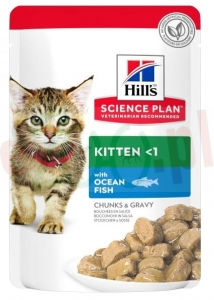 HILL'S SP FELINE KITTEN OCEAN FISH NEW 85 G 604038