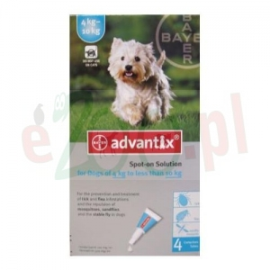 BAYER ADVANTIX SPOT-ON 1,0 ML X 4 PIPETY
